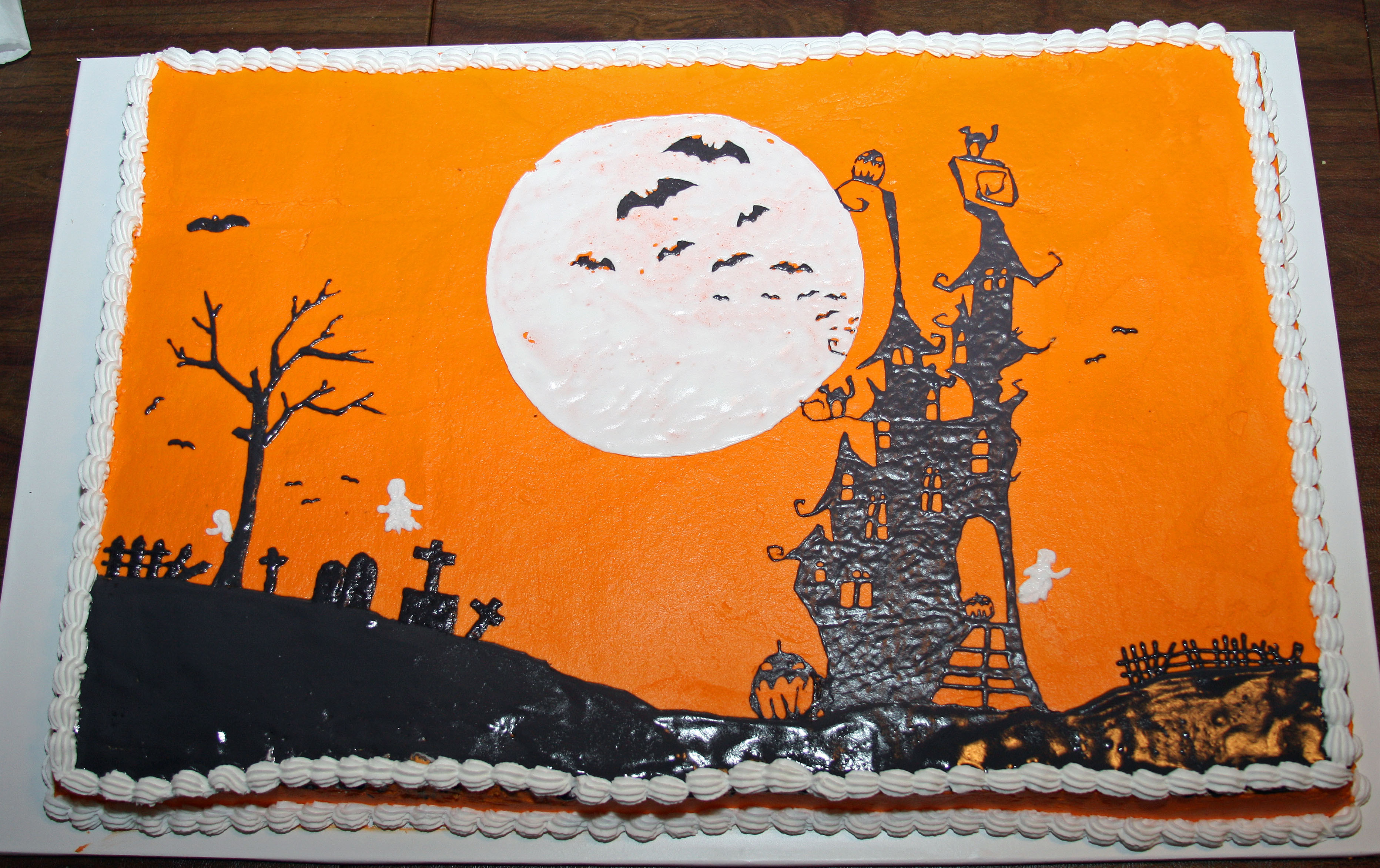 Halloween Birthday Sheet Cakes  Sheet cake photos