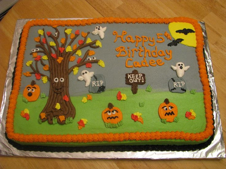 Halloween Birthday Sheet Cakes  17 Best images about cakes and cupcakes on Pinterest
