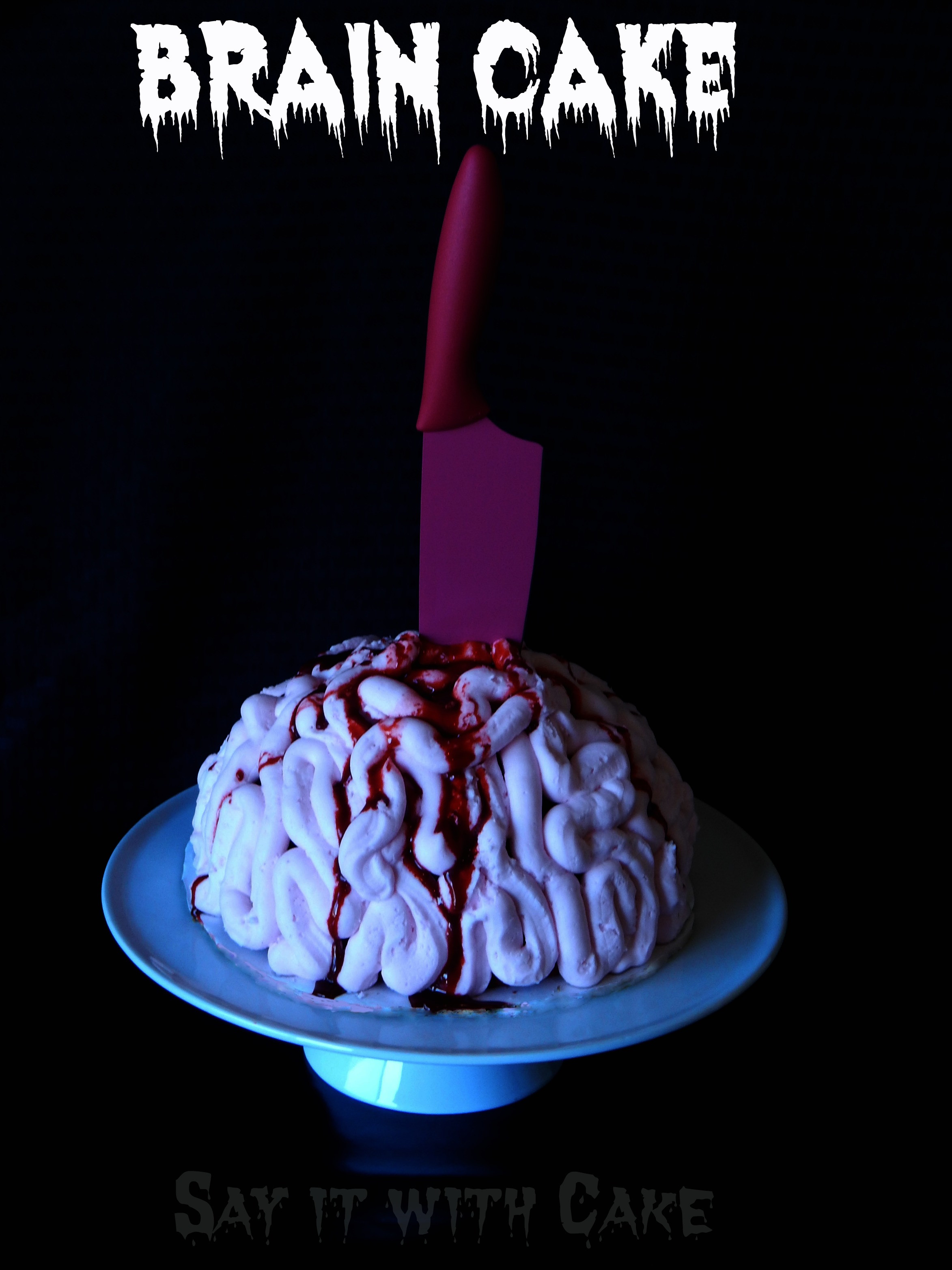 Halloween Brain Cakes  Zombie Brain Freeze Ice Cream Cake – Say it With Cake