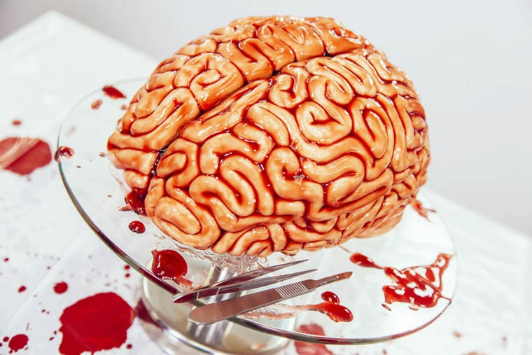 Halloween Brain Cakes  How To Create A Brain shaped Cake For Halloween