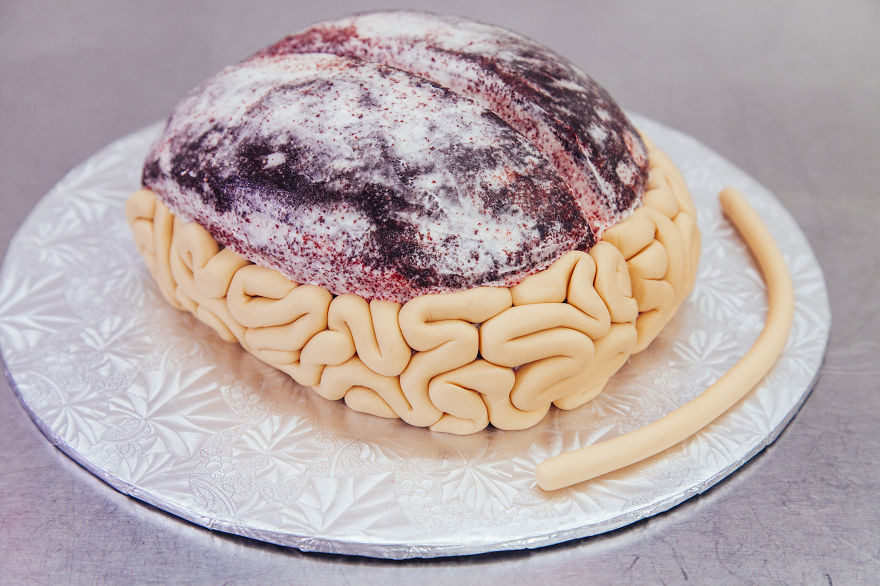 Halloween Brain Cakes  How To Make A Red Velvet Brain Cake For Halloween