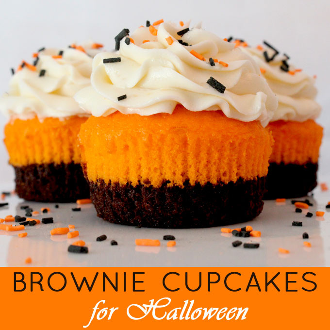 Halloween Brownie Cupcakes  Brownie Cupcakes for Halloween Two Sisters Crafting