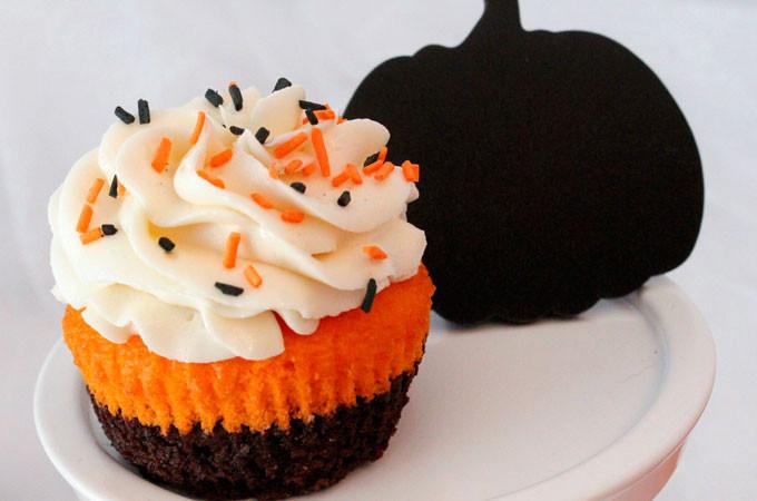 Halloween Brownie Cupcakes  Brownie Cupcakes Two Sisters