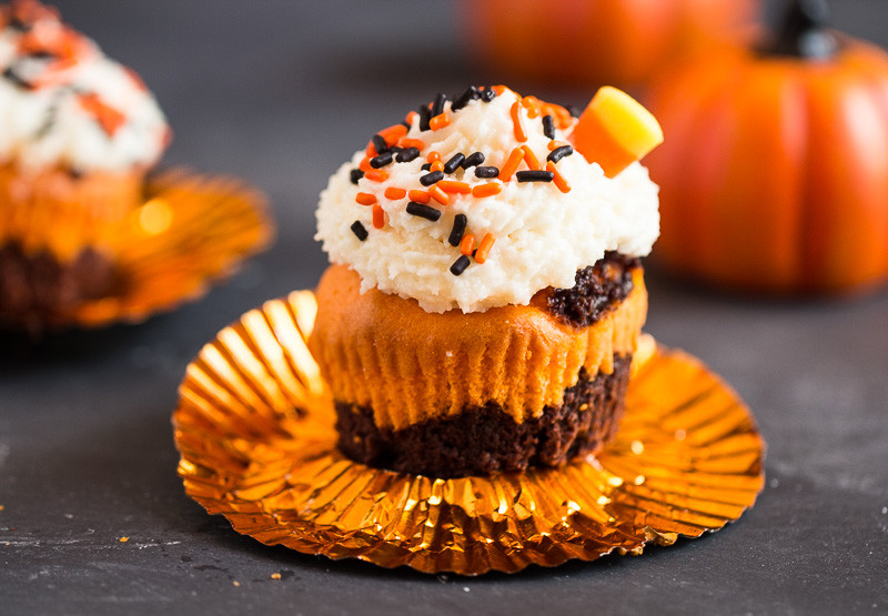 Halloween Brownie Cupcakes  Halloween Brownie Cupcakes G day Soufflé