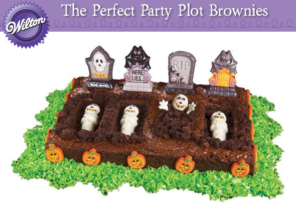 Halloween Brownies Decorating  The Perfect Plot Brownie Graveyard for Halloween Oh My