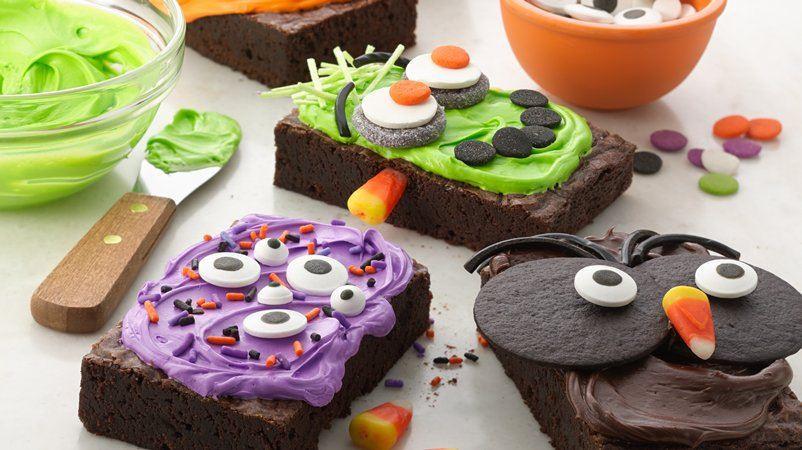 Halloween Brownies Decorating  Make Your Own Halloween Brownies recipe from Betty Crocker