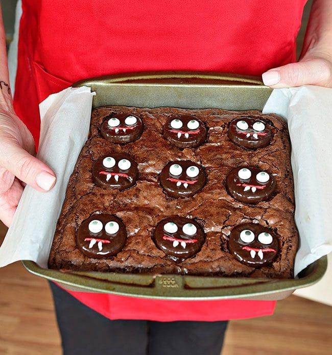 Halloween Brownies Ideas  Minty Fudge Vampire Brownies