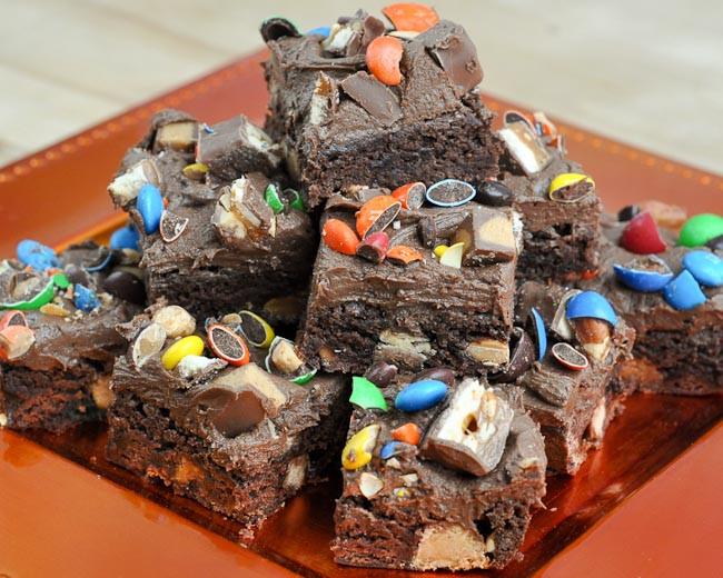 Halloween Brownies Ideas  Beki Cook s Cake Blog Leftover Halloween Candy Brownies