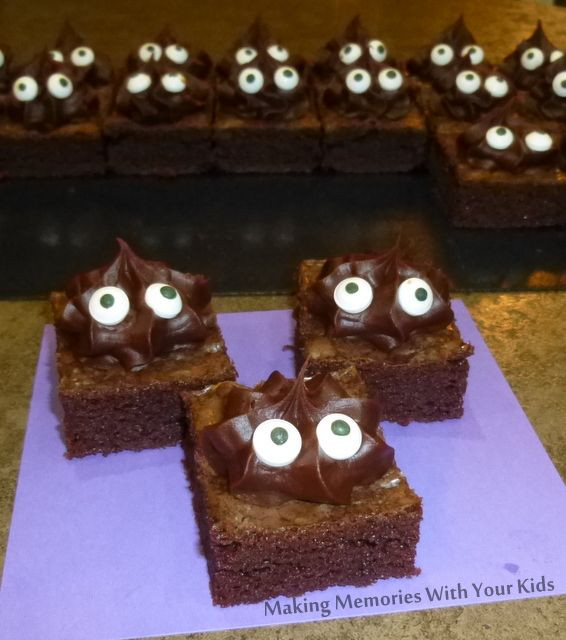 Halloween Brownies Ideas  Monster Halloween Brownies from Making Memories With Your