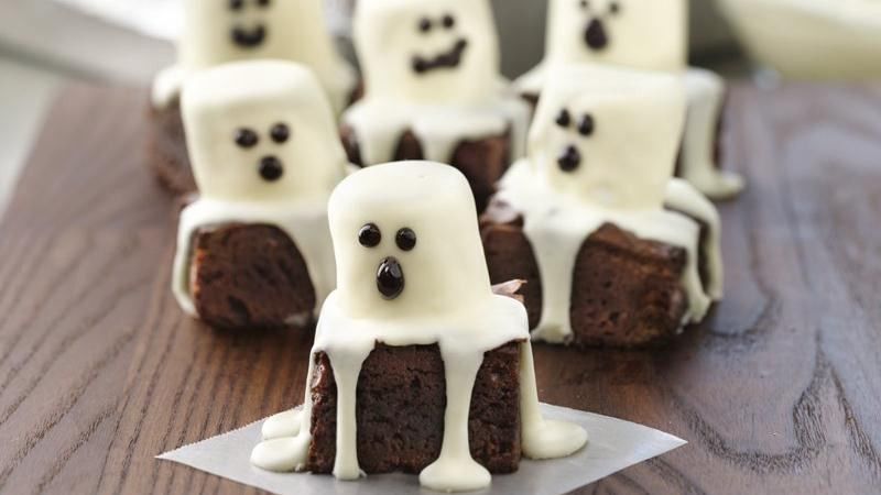 Halloween Brownies Ideas  Halloween Treats – Spooky Boo Brownie Recipe Design