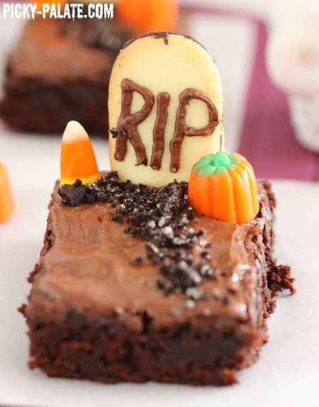 Halloween Brownies Recipes  Fudgy Graveyard Brownies Ideas for the House