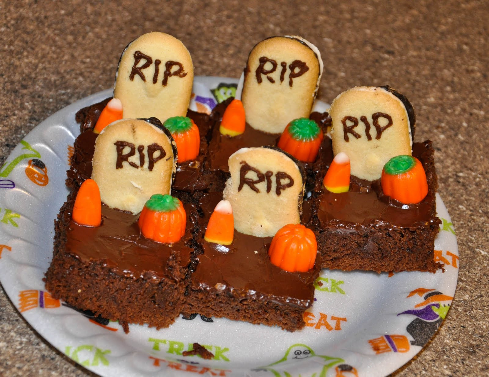 Halloween Brownies Recipes  Michelle s Recipe Box Halloween Brownies