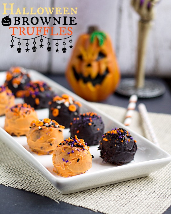 Halloween Brownies Recipes  Halloween Brownie Truffles