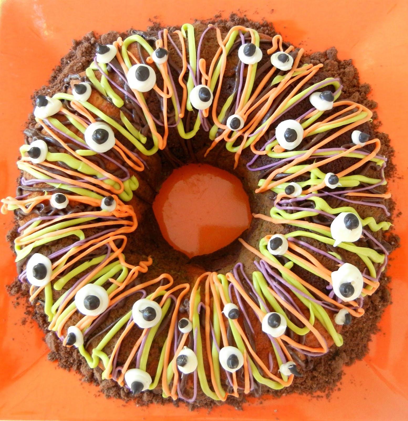Halloween Bundt Cake  Sugar Swings Serve Some Tri color Halloween Bundt Cake