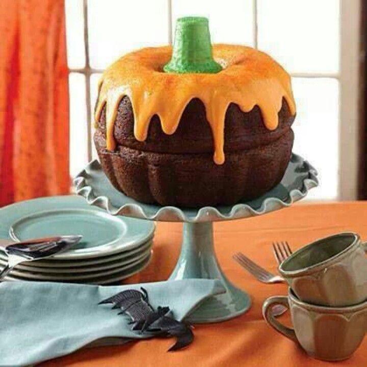 Halloween Bundt Cake  Mini Bundt Cake Pumpkins