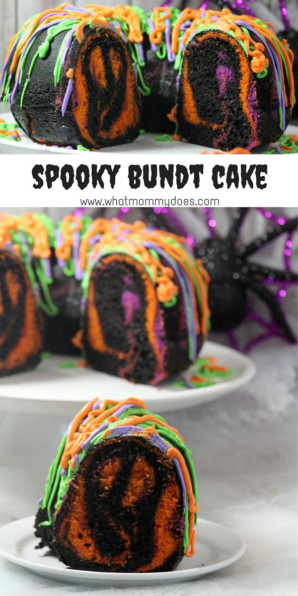 Halloween Bundt Cake  Eye Popping Spooky Halloween Bundt Cake What Mommy Does