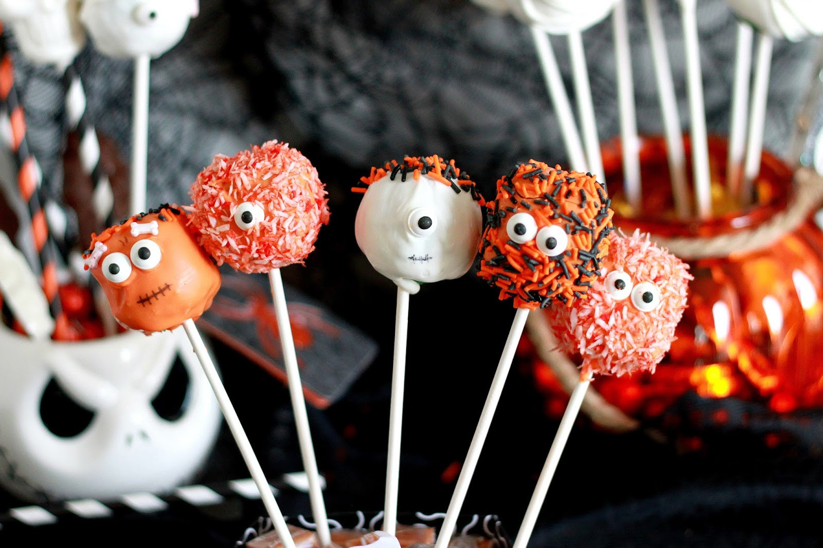 Halloween Cake Pops Recipe  Feeding My Addiction Spooky Halloween Cake Pops
