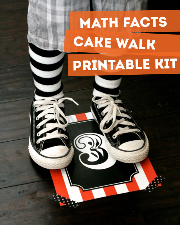 Halloween Cakes Games  Math Facts Cake Walk for Class Parties Paging Supermom