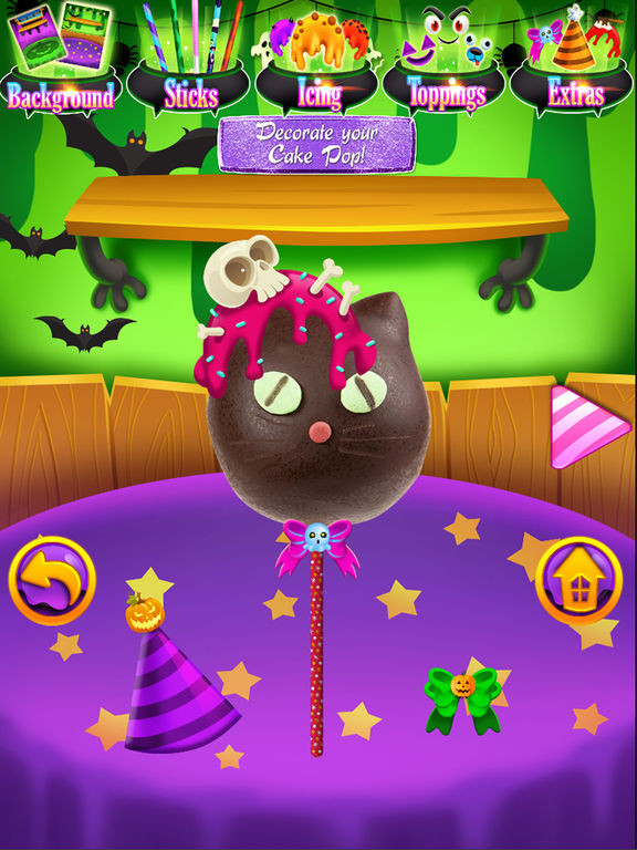 Halloween Cakes Games  App Shopper Halloween Cake Pops Kids Dessert Food Games