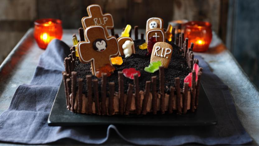 Halloween Cakes Recipes  Halloween cake recipe BBC Food