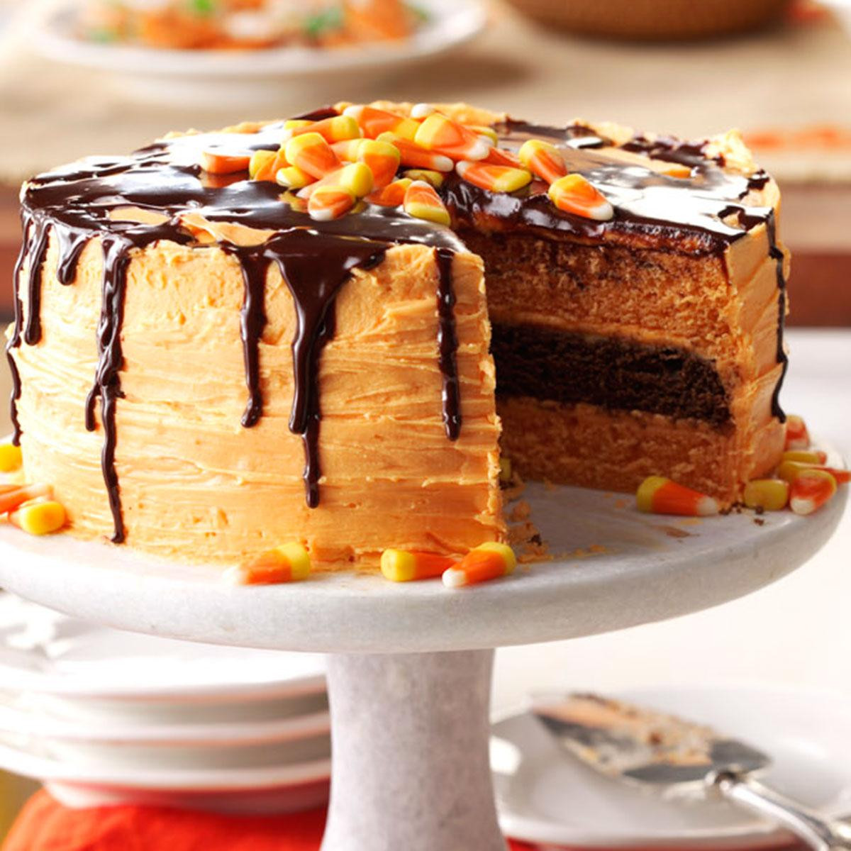 Halloween Cakes Recipes With Pictures  Halloween Layer Cake Recipe