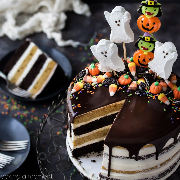 Halloween Candy Cakes  Pumpkin Chocolate Halloween Cake Baking A Moment
