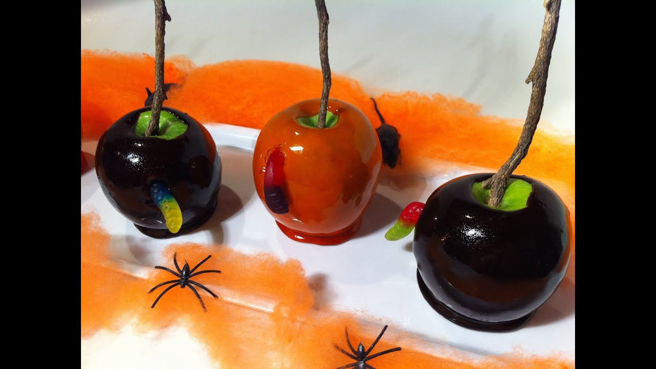 Halloween Caramel Apples  HOW TO MAKE CREEPY CANDY APPLES
