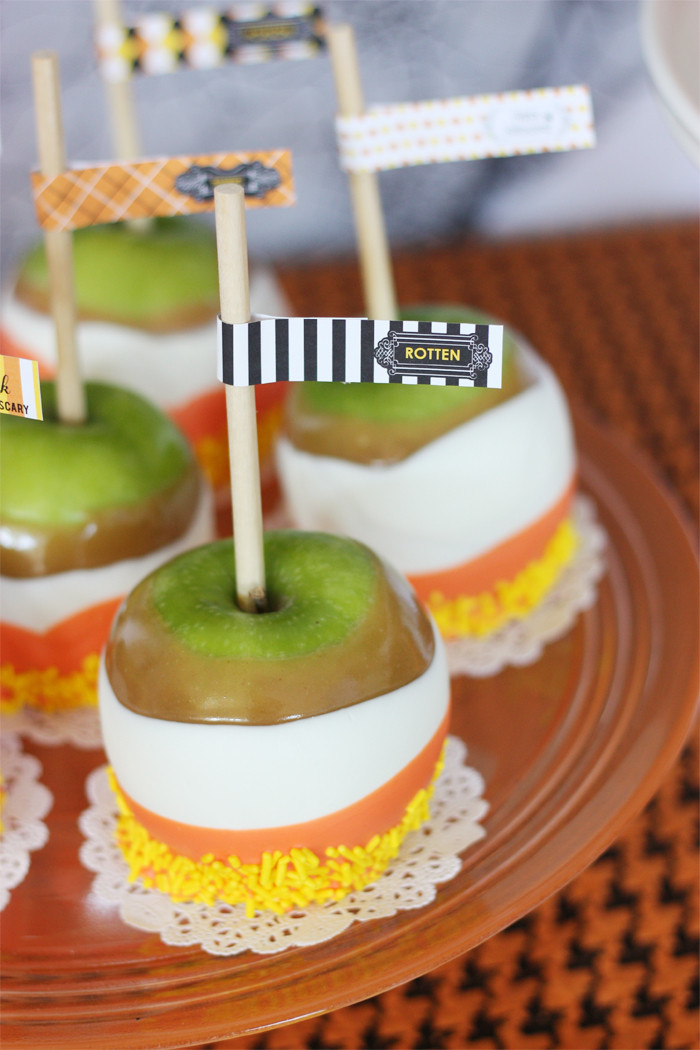 Halloween Caramel Apples  Eek Shriek and be Scary Halloween Collection