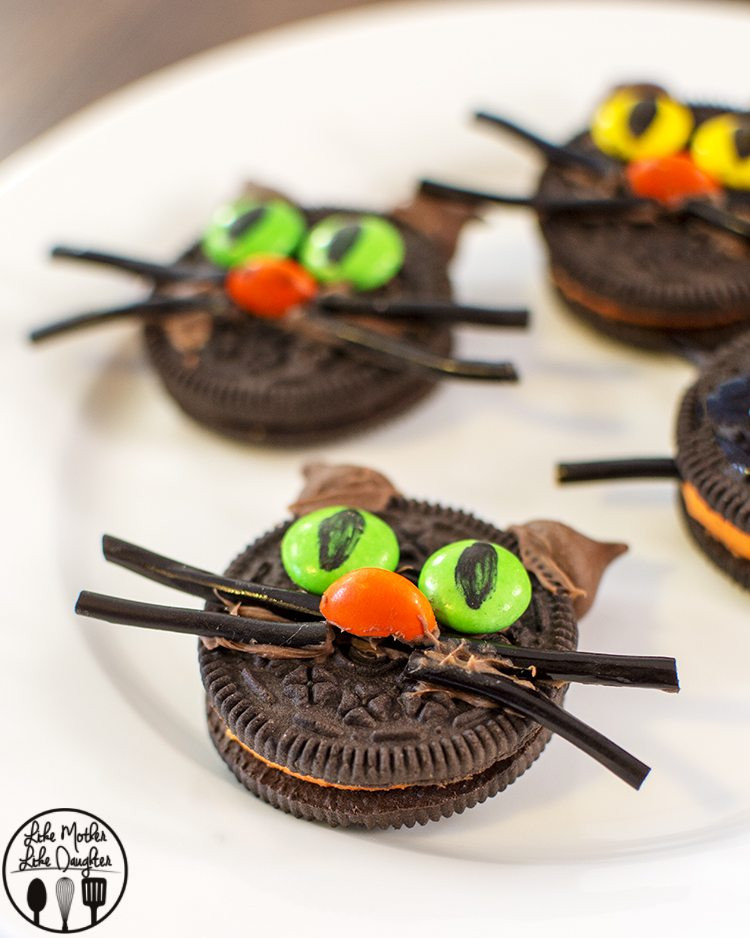Halloween Cat Cookies  Oreo Cats Like Mother Like Daughter