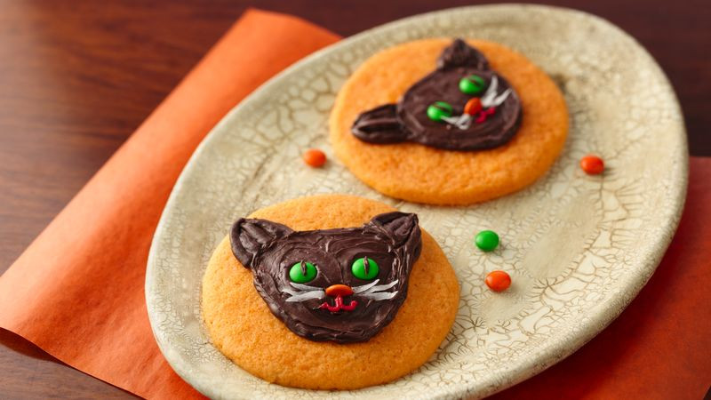 Halloween Cat Cookies  Halloween Cat Cookies recipe from Tablespoon