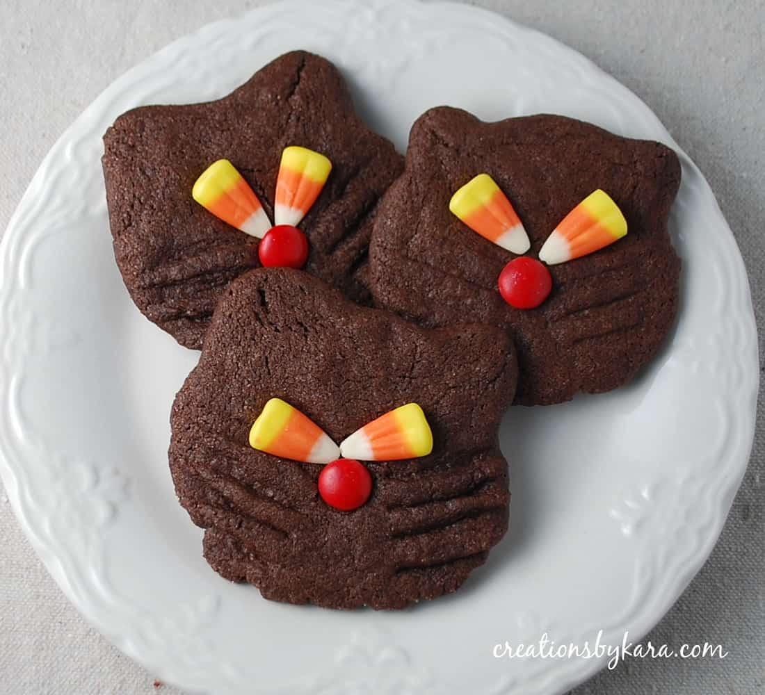 Halloween Cat Cookies  halloween recipe cookies