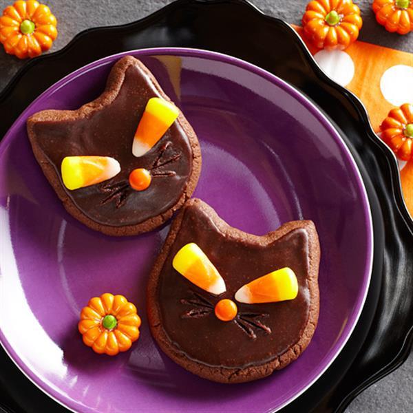 Halloween Cat Cookies  Scaredy Cat Halloween Cookies