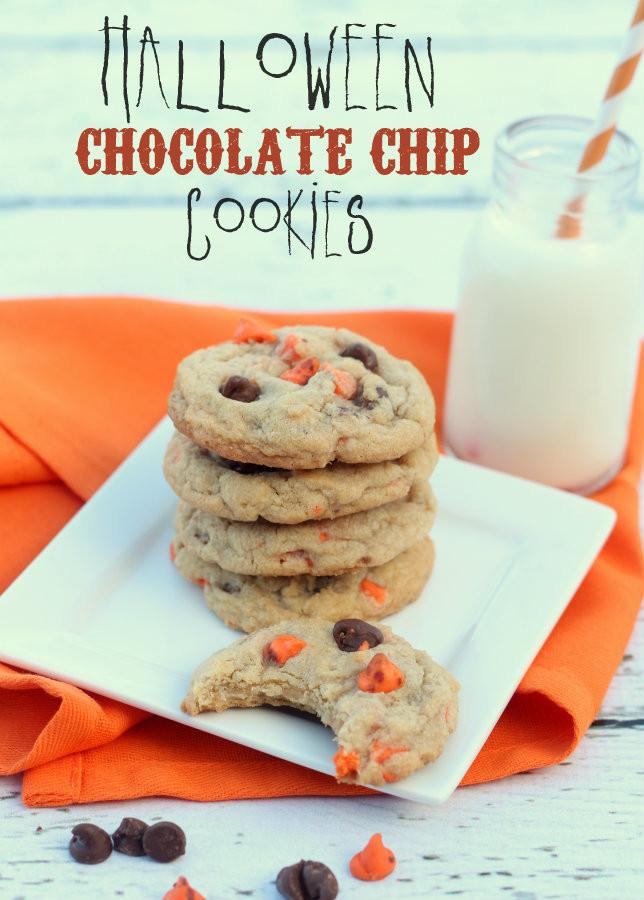 Halloween Chocolate Chip Cookies  Halloween Chocolate Chip Cookies