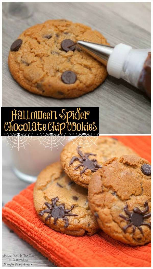 Halloween Chocolate Chip Cookies  Halloween Cookies Spider Infested Moms & Munchkins