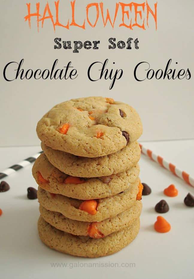 Halloween Chocolate Chip Cookies  Super Soft Halloween Chocolate Chip Cookies Gal on a Mission