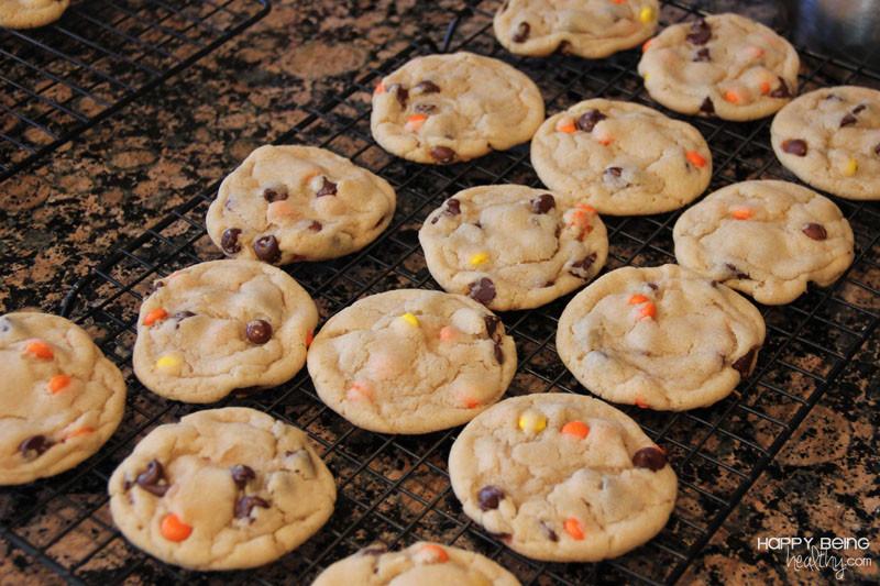 Halloween Chocolate Chip Cookies  Costco Panda Express and Easy Halloween Monster Cookies