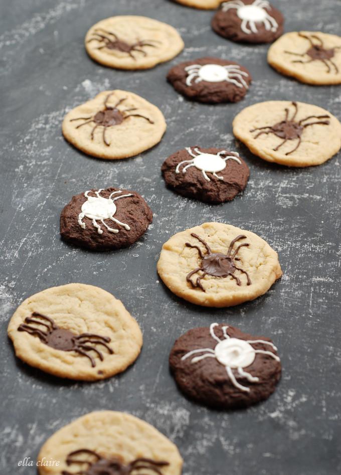 Halloween Chocolate Chip Cookies  Creepy Crawly Halloween Chocolate Chip Spider Cookies