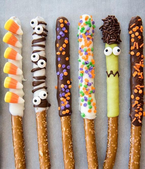 Halloween Chocolate Covered Pretzels  Halloween Recipes Archives Halloween Land