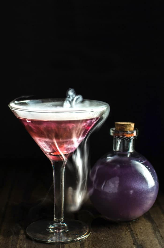Halloween Cocktail Drinks  The Witch s Heart Halloween Cocktail The Flavor Bender