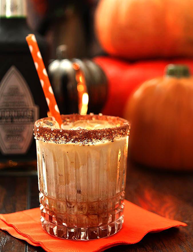 Halloween Coffee Drinks  The Black Goblin Tequila Coffee Liqueur and Cream