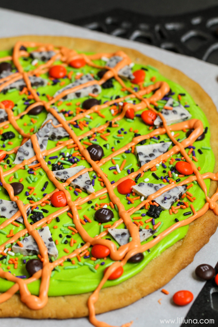 Halloween Cookie Cakes  Sugar Cookie Cake