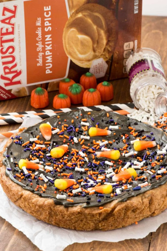 Halloween Cookie Cakes  Halloween Pumpkin Cookie Cake Crazy for Crust