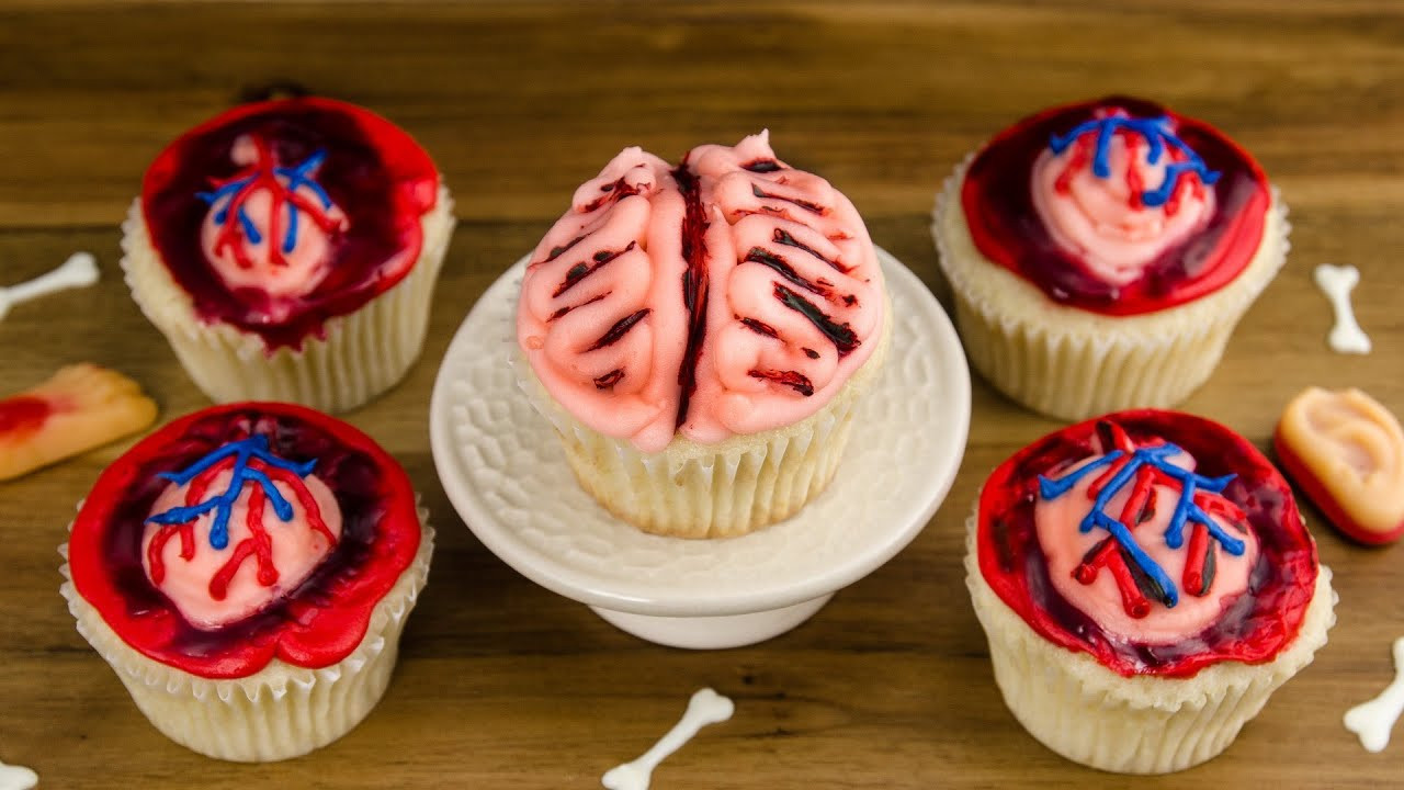 Halloween Cookies And Cupcakes  Heart & Brain Cupcakes How to Make Halloween Cupcakes