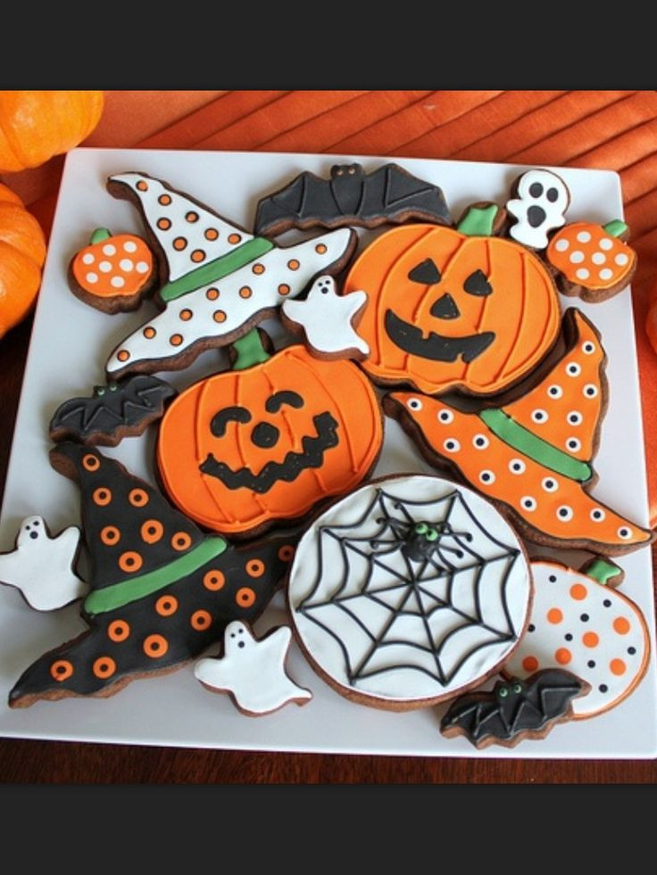 Halloween Cookies Decorations  Best 25 Pumpkin sugar cookies decorated ideas on