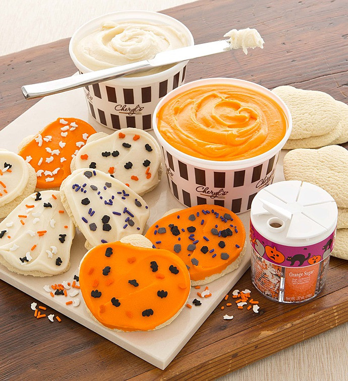 Halloween Cookies Decorations  Halloween Cutout Cookie Decorating Kit