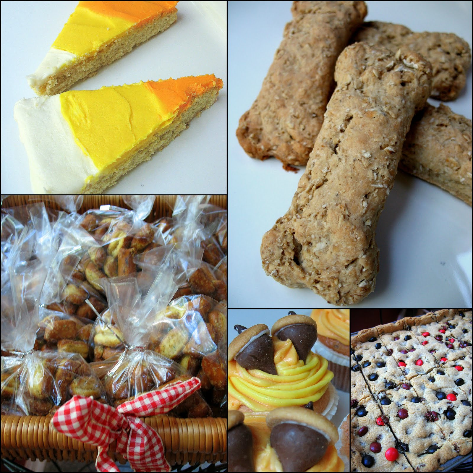Halloween Cookies For Sale  Bake Sale Doggie Treats Acorn Cupcakes Candy Corn