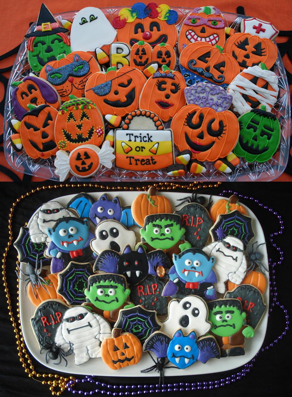 Halloween Cookies Ideas  sugar cookies