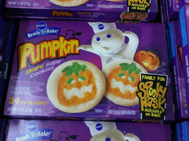 Halloween Cookies Pillsbury  Pillsbury Pumpkin and Ghost Cookies with Masks