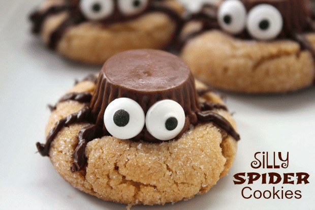 Halloween Cookies Recipe  Silly Halloween Spider Cookies Recipe Thrifty Jinxy