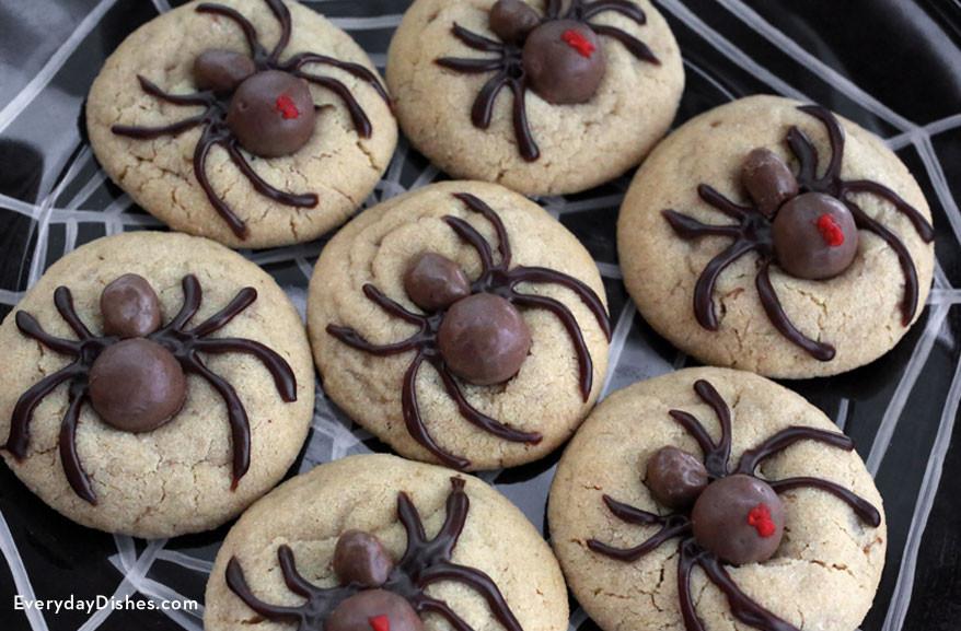 Halloween Cookies Recipe  Easy and Fun Halloween Spider Cookies Recipe